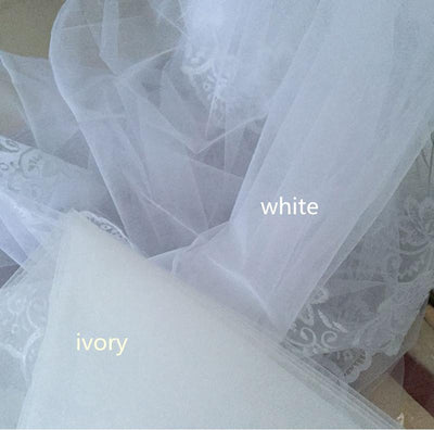 BV52 : 2 layers sequin bead Bridal Veils
