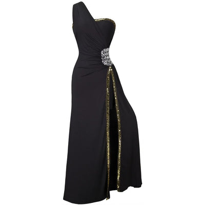 PP44 : 2 Styles Black Beaded Evening Dresses