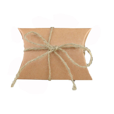 100pcs  Kraft Pillow Gift Boxes For DIY Wedding and Party