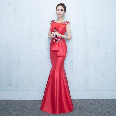PP57 Embroidery Mermaid Evening Dresses (9 Colors)