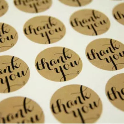 60Pcs/lot Thank You Gift Tag for DIY Wedding &Party Favors