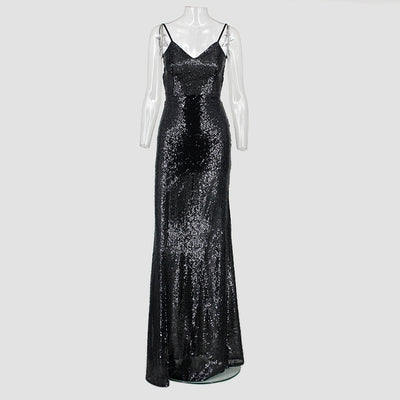 PP95 Sexy  Glitter Party Dresses(black/gold)