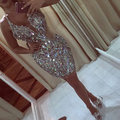 Sparkly Sequin  Mini Prom Gowns