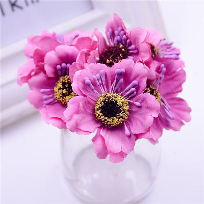 6pcs Artificial mini cherry poppy for Wedding & Home decor(14 Colors)