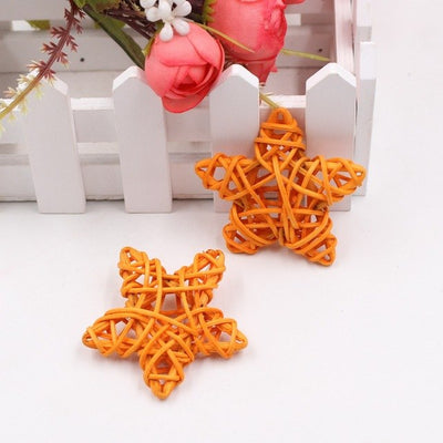 5pcs Rattan stars For DIY Wedding Decoration (10 Colors)