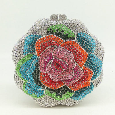 CB22 Rose Flower crystal Evening Clutch Bags (17 Colors)