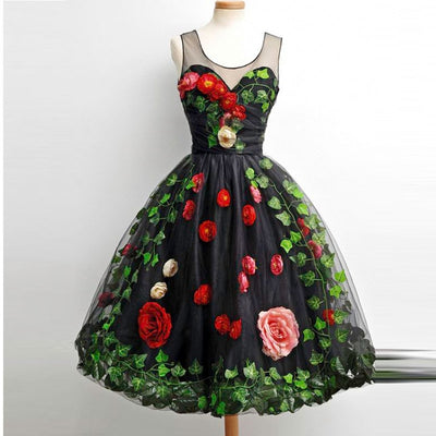 Special design flower ball gown Homecoming Dresses (3 Colors)