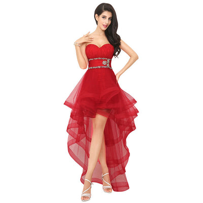 BH22 Strapless Sweetheart hi low  Homecoming Dresses (12 Colors)