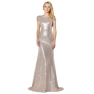 PP35 Classy Backless Sequined Evening Dresses(6 Color)