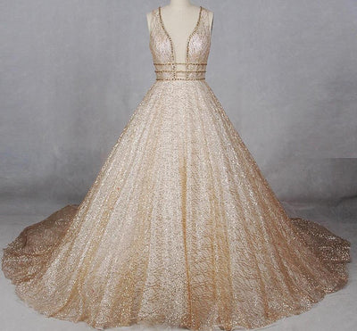 CG45 Glitter Princess Wedding Gowns (3 Colors)