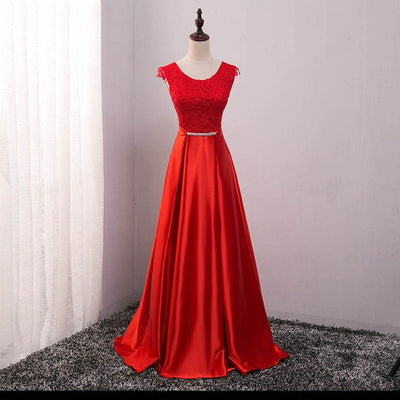PP23 Plus size Satin Long Evening Dresses(7 Colors)