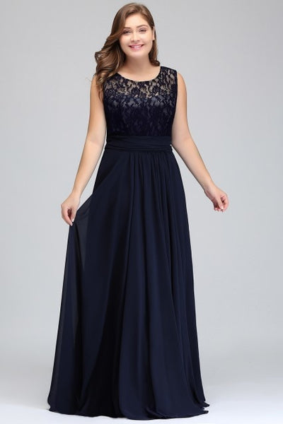 BH60 Formal Plus Size Lace Bridesmaid Dresses (6 Colors )
