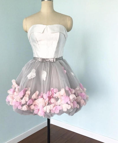 PP46 Sweety Flowers strapless cocktail Dresses