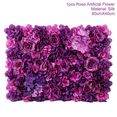 Artificial Rose Flower Wall  Wedding Decorations (11 Colors )