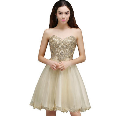 BH134 strapless short Homecoming Dresses (7 Colors)