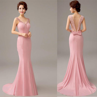 BH05 Pink mermaid Bridesmaid Dresses