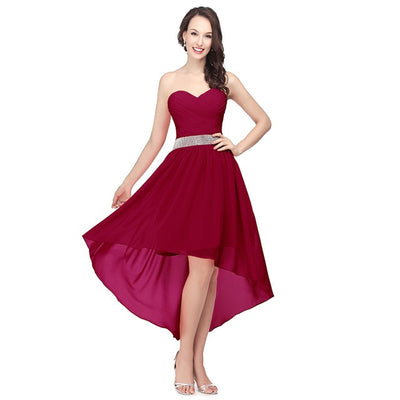 Off Shoulder Hi Lo Bridesmaid Dresses (4  Colors)