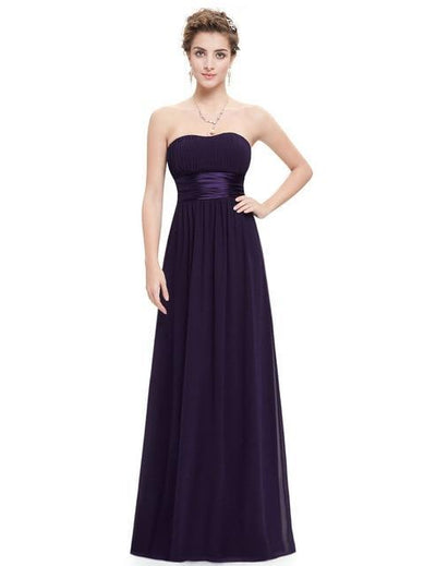BH87 Formal Strapless Long Bridesmaids Dresses