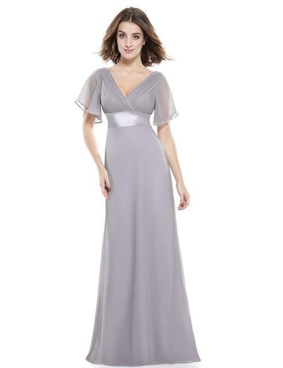 BH39 Formal V neck Long Bridesmaid Dresses (12 Colors )