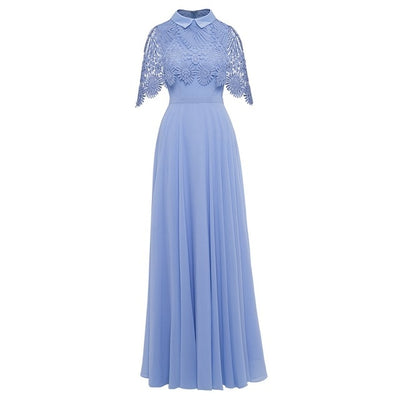 Plus Size Lace Half Sleeves Evening Dress
