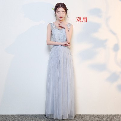 BH28 Cheap long elastic waist Bridesmaid Dresses (3 Colors )