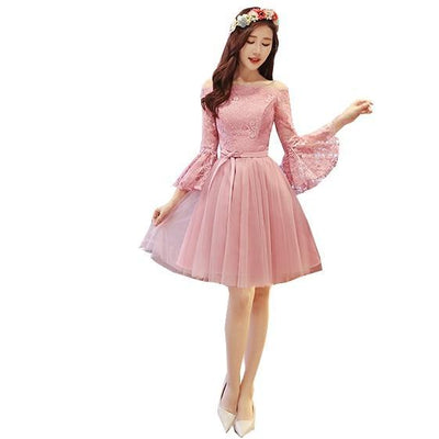 BH24 : 6 styles Sweet Pink Short Bridesmaid Dresses