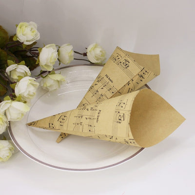 Handmade Kraft Flower Cones Holder (3 styles)