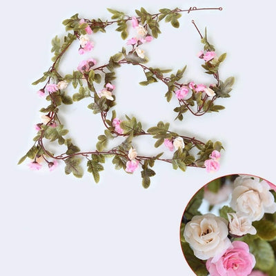 Silk Rose String for Wedding Decorations(5 Colors)
