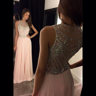 Luxury Illusion Crystal Evening Gown