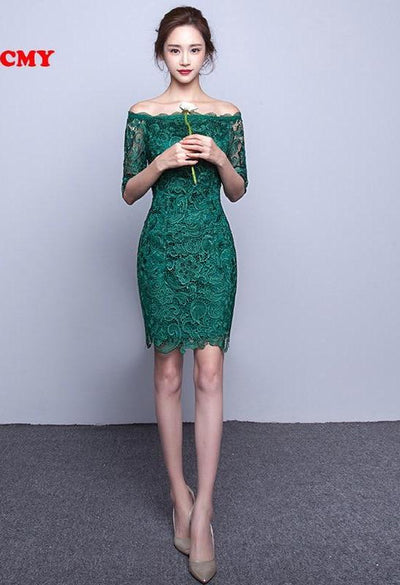 PP16 Lace Cocktail Dresses (Red/Green)