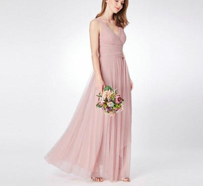 BH29 Simple  Bridesmaid Dresses ( 4 Colors )