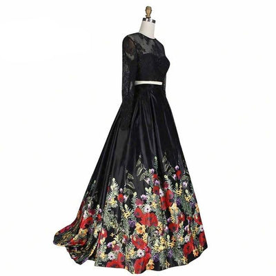 2 Piece Sleeve Ball Gowns