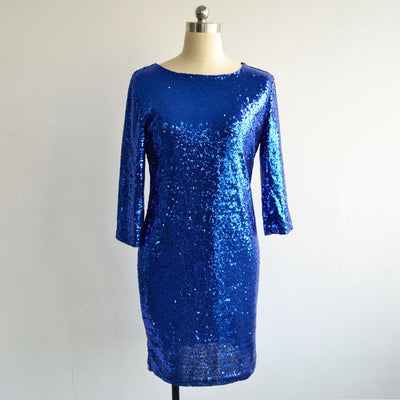 MX41 Long Sleeve Sequin Party Mini Dresses (5 Colors)