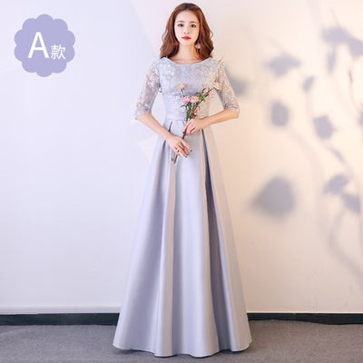 BH23 Pink- Grey Styles Bridesmaid Dresses