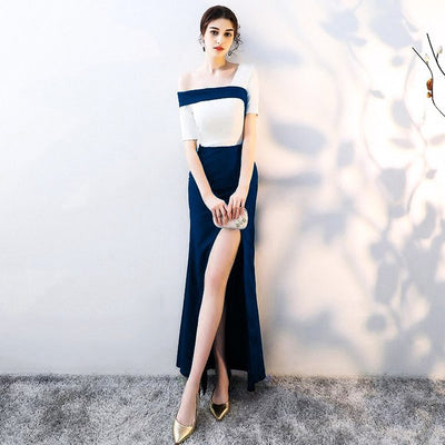 BH70 One Shoulder Bridesmaid Dress