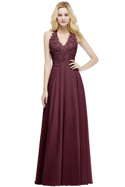 PP24 Embroidery Lace  Evening Dresses(5 Colors)