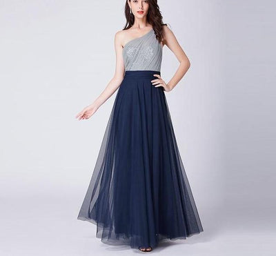 PP106 One Shoulder Tulle Prom Dresses (3 Colors)