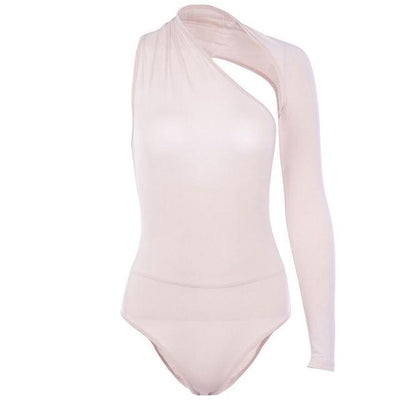 JR10 Sexy One Shoulder Bodysuits ( 5 Colors)
