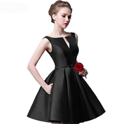 BH08 Simple Short Bridesmaid Dresses (14 Colors)