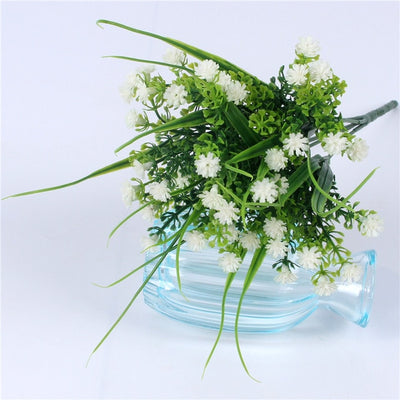 Artificial baby's breath with leaf for DIY Wedding Decor(6 colors)