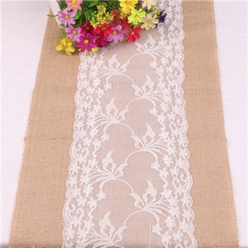 Vintage Lace & Burlap Chair Sashes Wedding Decor( 6 styles)