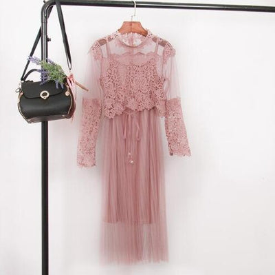 BH50 Sweet lace mesh Dresses