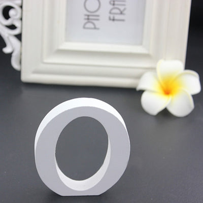 White Wooden  Sign for Wedding  Decor(A-Z)