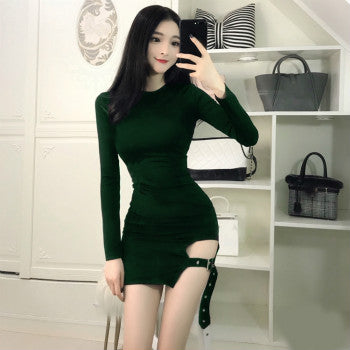 MX124 Sexy K-Pop Long sleeve  Bodycon dresses (3 Colors)