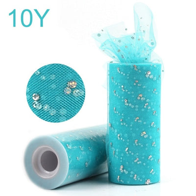 Sequin Tulle Fabric Table Runner  for DIY Wedding ,Party Decor