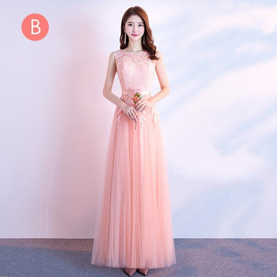 BH31 Lace Embroidery Bridesmaid Dresses