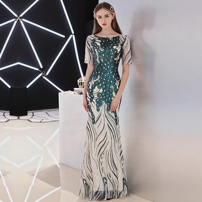 PP115 Elegant Mermaid Sequins Red Carpet Dresses