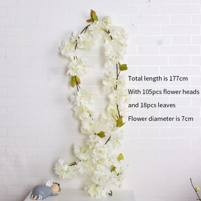 Artificial Sakura Cherry flower vine for DIY Wedding Decor