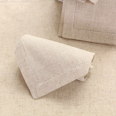 White Hemstitched Napkins For Party Wedding