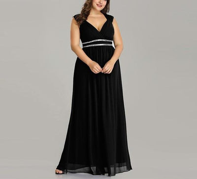 PP126 Plus Size Crystal Beaded  Evening Dresses(7 Colors)